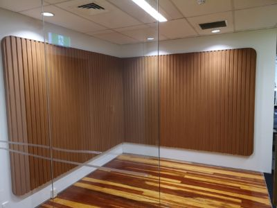 Decorative office feature wall 1