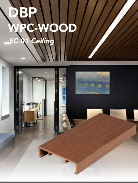 100x25 suspended ceiling in teak color front page