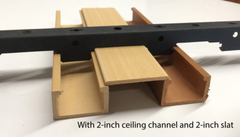Floating ceiling panel 40 x 25