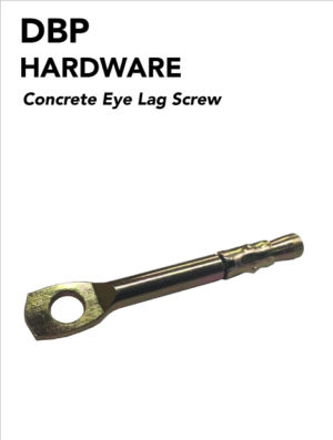 Concrete eye lag screws