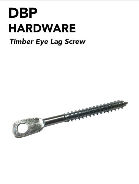 Timber eye lag screws (100 Pack) for suspended wire ceilings system
