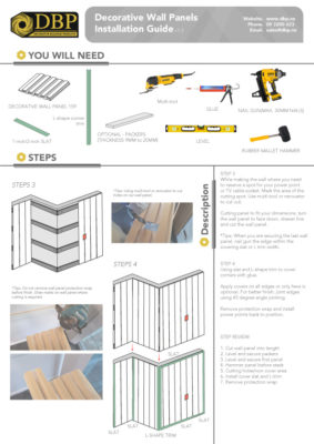 Wall Panels Installation Guide