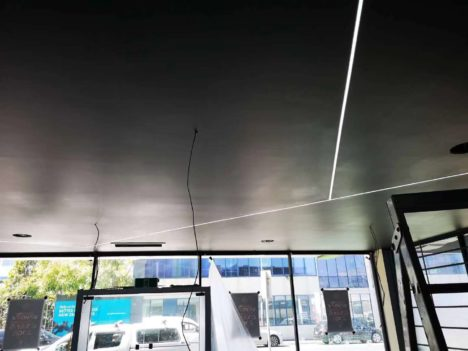 Gib ceiling with LED stripe lighting 2
